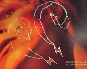 ZIGGY STARDUST LIGHTNING Necklace David Bowie inspired