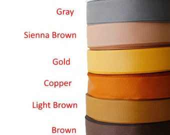 """Scrapbooking Supplies, 3/4"""" Grosgrain ribbon, Gross grain ribbon, Ribbon Supplies, Sewing, Dressmaking, Hair bow,Black Gray Brown and more"""