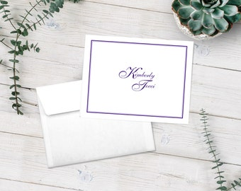 Personalized Note Cards, Stationery Set, Border Note Cards, Thank You Cards, Classic Stationary Set, Custom Notecards, Custom Stationery