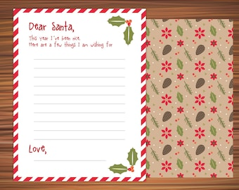 Dear Santa Christmas List Santau0027s Wish List Wish List Printable Christmas  Wish List Wish List Printable