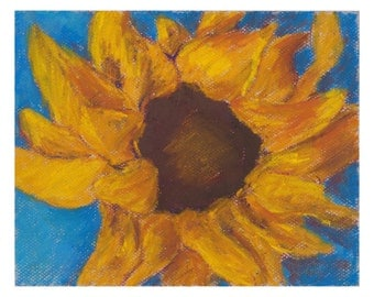 Sunflower and Blue  - original artwork