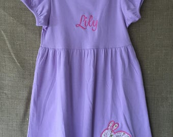 Girls Embroidered Easter Dress