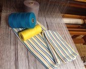All turquoise, gray, yellow and white table linen and towel full 100/100 cotton hand woven