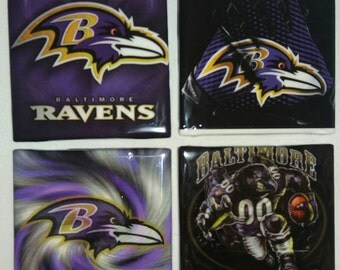 Baltimore Ravens Coasters, Man Cave Coasters, Coasters
