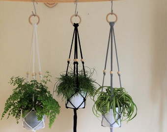 Macrame Plant Hanger(100cm); Home decor; wall hanger; cotton rope