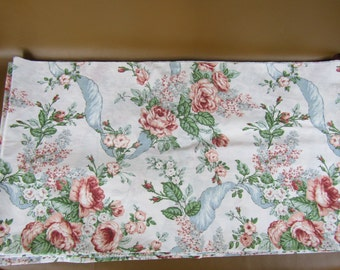 3 pieces vintage floral sheeting fabric
