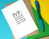 IVF card | Funny IVF card | Infertility support card | Baby making card | Encouragement card | Trying to conceive card |