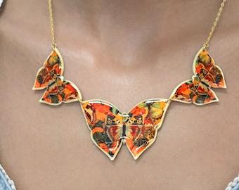 Triple Choker Butterfly Silhouette