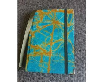 Turquoise Batik Fabric Notebook -- Ankara Notebook -- Ankara Journal