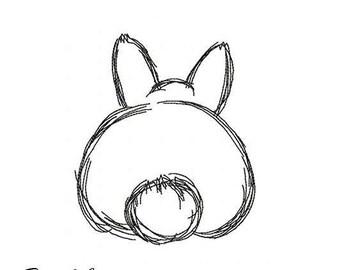 E007 Cute bunny - Machine Embroidery Design, 4*4, 7*5