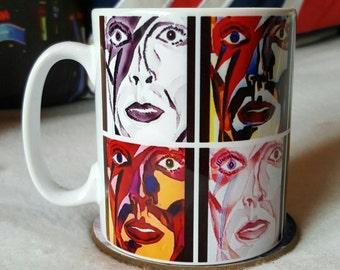 David Bowie Pop Art style mug