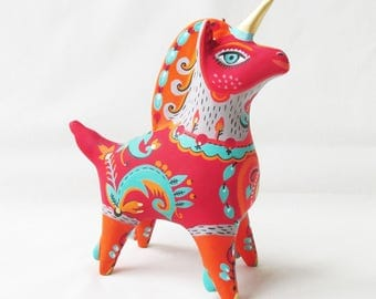 Unicorn with a warm heart whistle collectible art ceramic