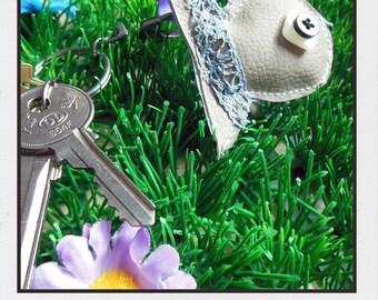 Gray fish key chain