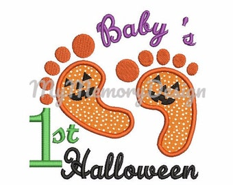 Monogram Pumpkin Digital Halloween Applique Design Machine