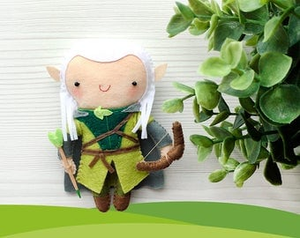 Little Felt Legolas, Hero Elf, Handmade doll, Lord of the rings, Hobbit