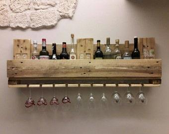 Wood Wine Bottle Rack Pallet Shelf Wine Rack