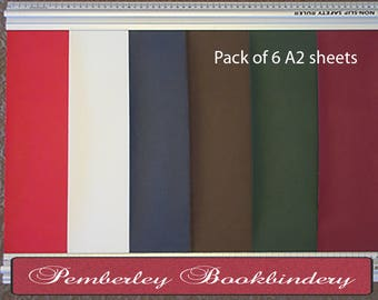 Bookcloth - Arbelave (Library) Buckram pack of 6 A2 sheets