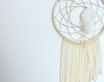 Sparkly white and gold dreamcatcher