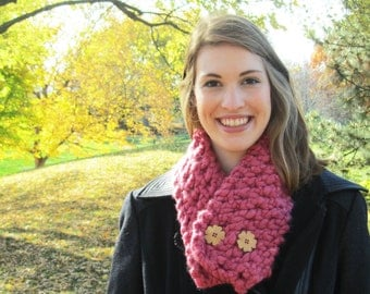 Cozy Button Cowl // Chunky Knit // Scarf // Simply Cozy Collection