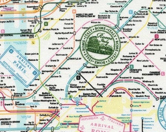 Timeless Treasures European Cities Map Fabric Map of Europe Fabric