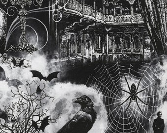 Timeless Treasures Haunted House Fabric - NEW for 2017!!
