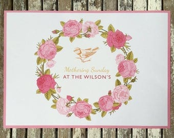 Personalised Paper Placemats Vintage Roses  Birthday