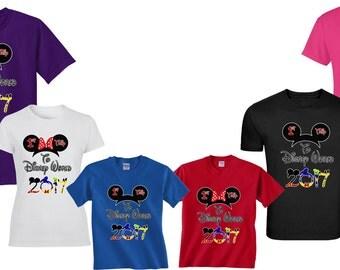 1st Trip To Disney World DISNEY trip FAMILY VACATION 2017 T-Shirts  Disney All Sizes Minnie & Mickey