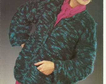 pdf Vintage Ladies Jacket Knitting Pattern.