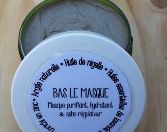"""Down the mask"" mask cleansing, moisturizing and sebo regulator"