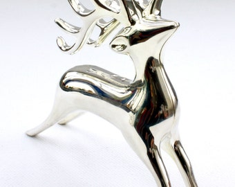 Small silvered deer, Christmas decoration, Christmas special by Trendklunker