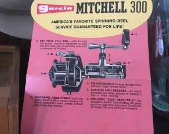 1960's Garcia Mitchell 300  Cardboard Advertisement Sharp!