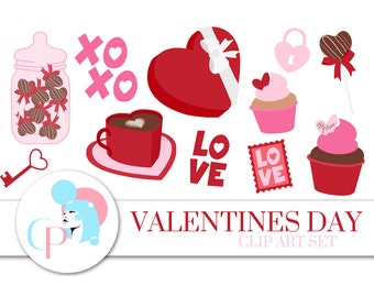 60% OFF SALE! Valentines Day ClipArt Set - Set of 42 - Valentine's day ClipArt - Love Clipart - Valentines Day - Scrapbook