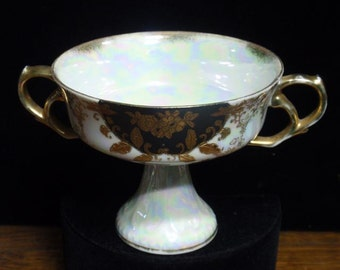 Royal Sealy Lusterware 2 Handled Tea Cup