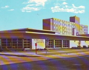 Vintage Photo Post Card of  Downtown Library., Racine, Wisconsin,  Unused Postcard