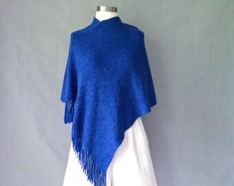 Vintage knit sparkly poncho/ cape women's size S/M