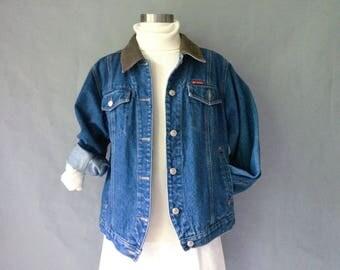20% off using coupon! vintage Columbia denim jacket unisex jacket trucker jacket medium wash size S/M/L