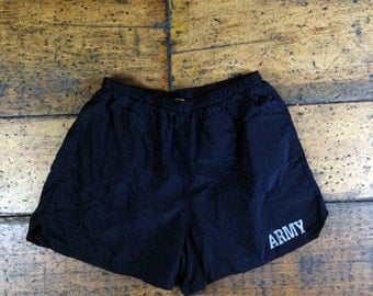 Vintage Military Issue ARMY Board Shorts Swim Trunks