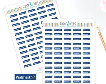 60 Walmart reminder stickers, Planner Stickers, Reminder Stickers, Happy Planner, Calendar Stickers, Erin Condren Stickers