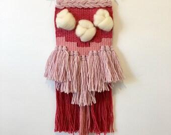 Shades of Pink Woven Wall Hanging // Nursery Decor // Boho Wall Decor // Weaving // Boho Style // Textile Wall Art