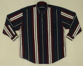 Nautica Oxford Shirt Vintage Nautica Shirt Nautica Long Sleeve Shirt Nautica Button Down Shirt Nautica Striped Shirt