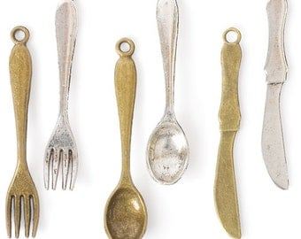 Spoons, Forks & Knives Charms (STEAM027)