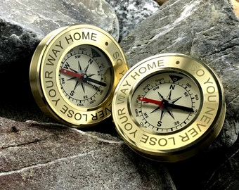 Personalized Compass, Father's Day Gift, Engraved Compass, Nautical Keepsake, Valentines Day Gift, Groomsmen Gifts, Christmas, Anniversary
