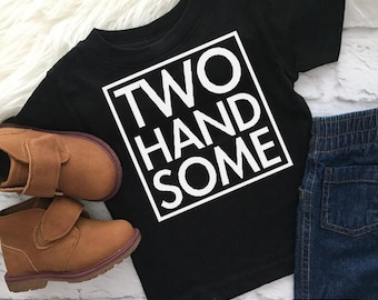 Two handsome shirt | 2 year old birthday shirt | Second birthday | Boys 2nd birthday | Two year birthday | Two year old | Birthday shirt