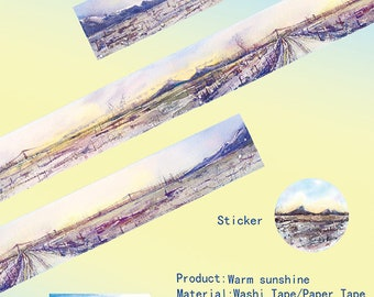 Landscape Washi Tape Warm sunshine,scrapbooking stickers,DiY,Paper Decorative masking Tape