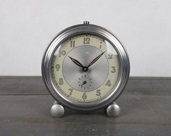 Vintage french clock, industrial, loft, ca 1950
