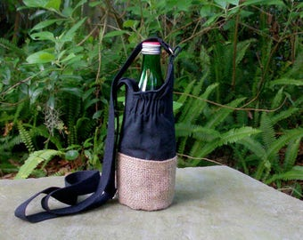Water Bottle Bag/Vegan Water Bottle Bags/Drink Holder/ Eco Friendly Water Bottle Bag/ Eco friendly/Yoga Accessories/Biodegradable