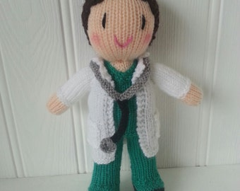 Doctor knitted doll