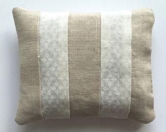 Dried lavender sachet, linen sachet, moth sachet, cotton sachet, drawer sachet, housewarming gift, gift for her