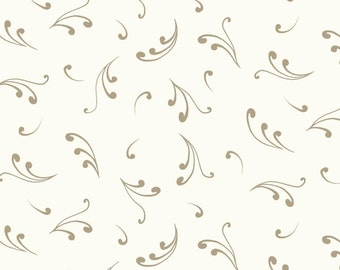 Elcott Park Light Cream Toss by Stepping Stone Studios Y2025-02 - quilting cotton woven fabric floral blender