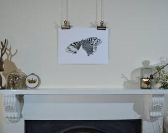 Hand-drawn moth illustration